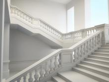 stair in white marble